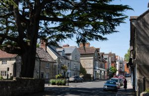 Tisbury High Street in Wiltshire